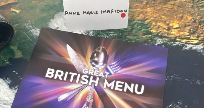Anne-Marie Imafidon's name at the Great British Menu